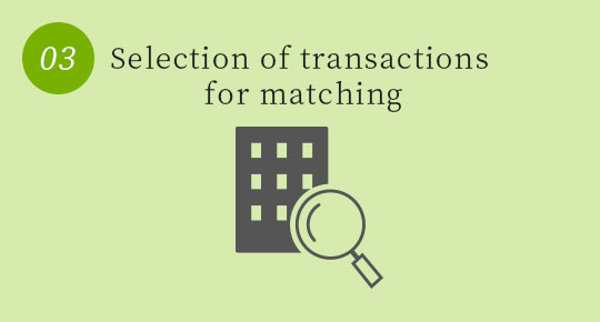 Selection of cases to consider transactions